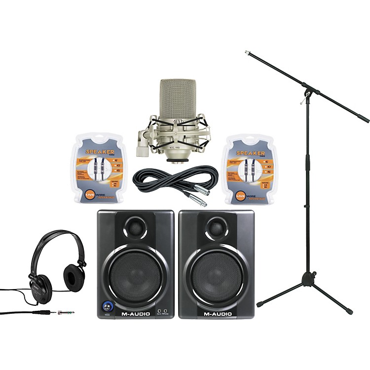 M-Audio AV40 Monitor and Mic Package