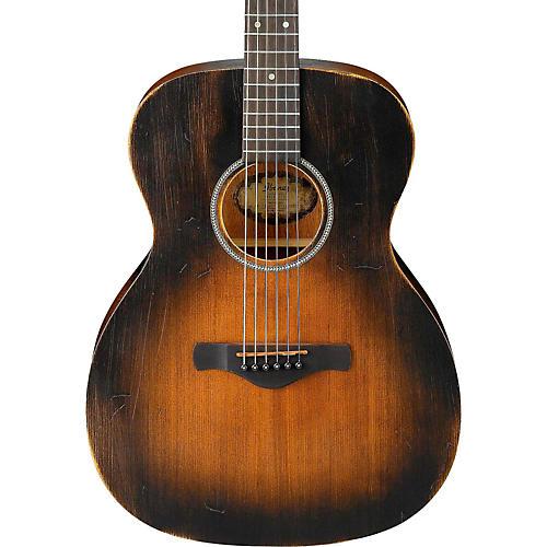 acoustic guitar ibanez distressed artwood grand concert sunburst guitars tobacco musiciansfriend friend musician mmgs7