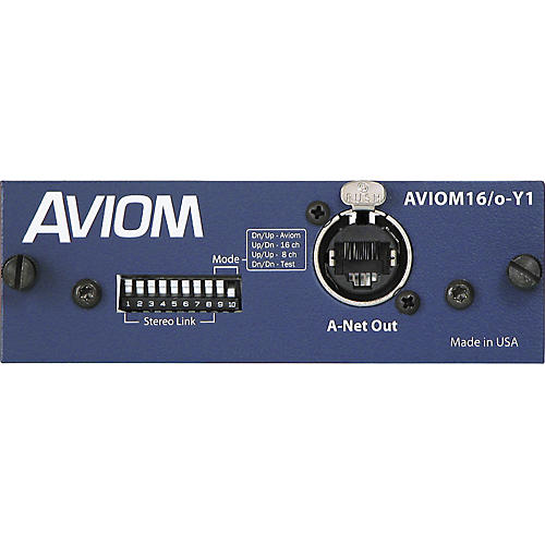 Aviom AVIOM16/o-Y1 Card for Yamaha Digital Mixers Aviom Blue