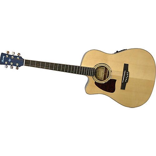 Ibanez AW30LECENT Artwood Series Left-Handed Acoustic-Electric Guitar-thumbnail