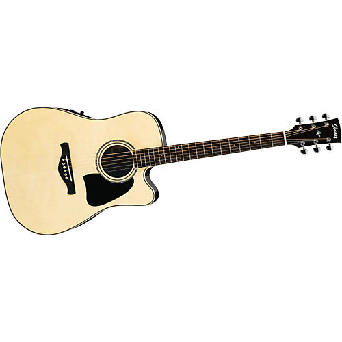 Ibanez AW380ECENT Artwood Solid Top Dreadnought Cutaway Acoustic-Electric Guitar