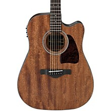 Ibanez AW54CEOPN Artwood Solid Top Dreadnought Acoustic-Electric Guitar Level 1 Open Pore Natural