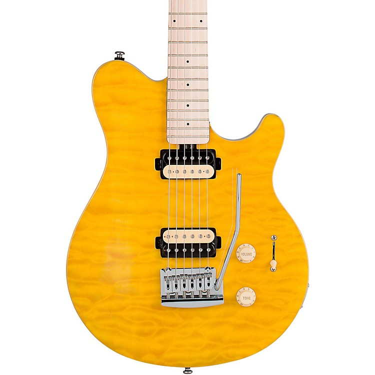 Sterling by Music Man AX3 Electric Guitar Translucent Yellow