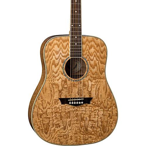 Dean AXS Dread Quilt Acoustic Guitar Natural