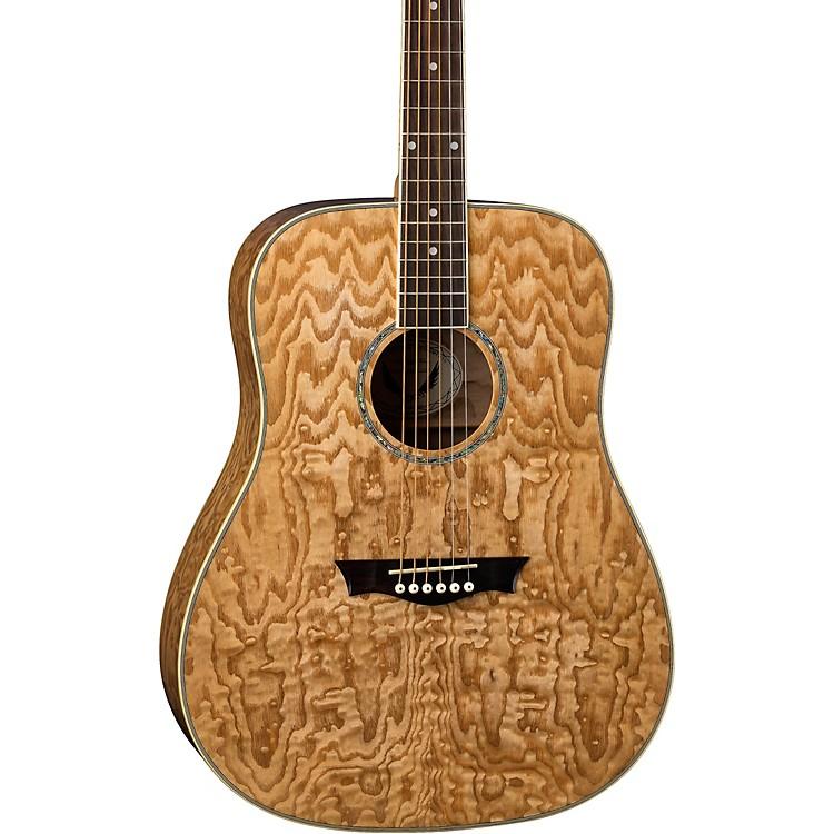 DeanAXS Dread Quilt Acoustic GuitarNatural