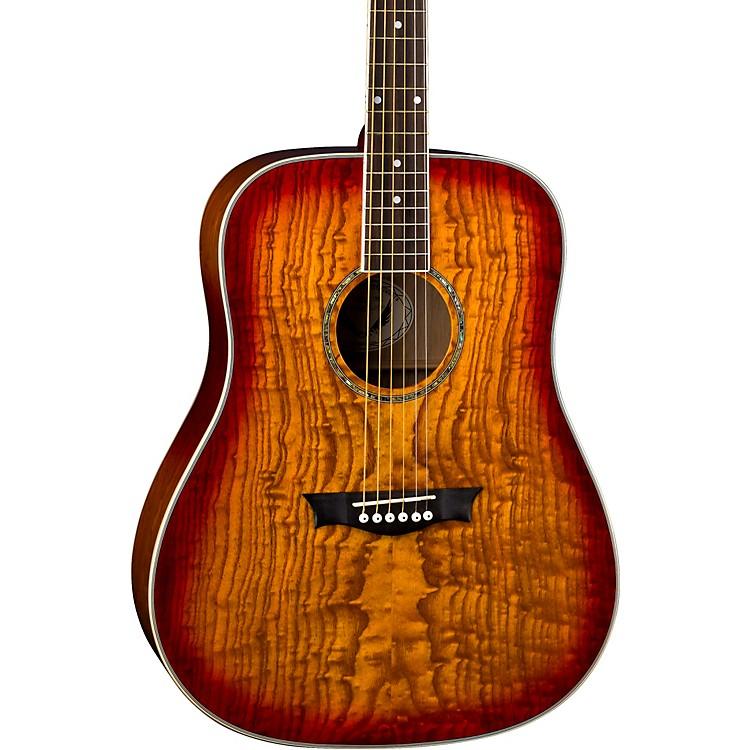 DeanAXS Dread Quilt Acoustic GuitarTobacco Sunburst