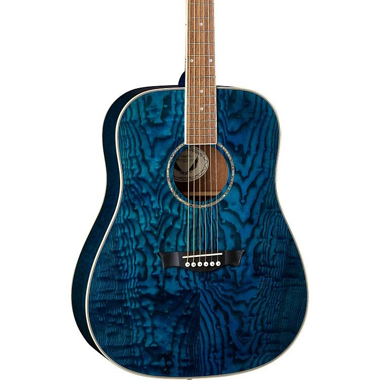 DeanAXS Dread Quilt Acoustic GuitarTrans Blue