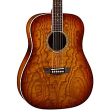 AXS Dreadnought Quilt Acoustic Guitar Tobacco Sunburst