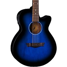 Dean AXS Performer Acoustic-Electric Guitar Blue Burst