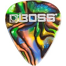 Boss Abalone Celluloid Guitar Pick 12-Pack Thin 12 Pack