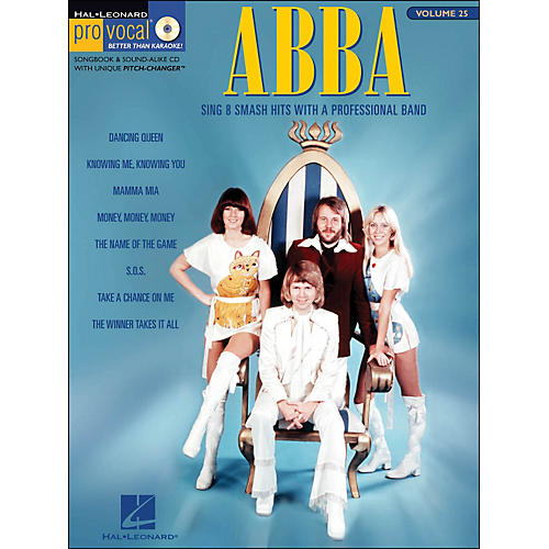 Hal Leonard Abba - Pro Vocal Songbook Female Singer's Edition Volume 25
