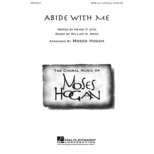 Hal Leonard Abide with Me SATB DV A Cappella arranged by Moses Hogan