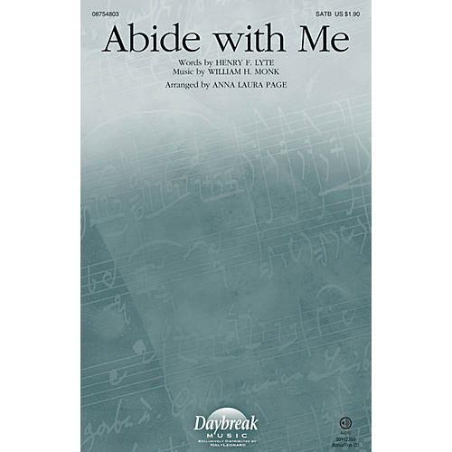 Daybreak Music Abide with Me SATB arranged by Anna Laura Page-thumbnail