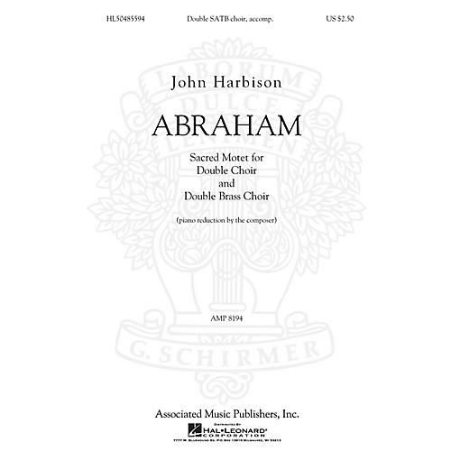G. Schirmer Abraham SATB composed by John Harbison-thumbnail