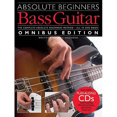 Music Sales Absolute Beginners Bass Guitar - Omnibus Edition Music Sales America Softcover with CD by Phil Mulford-thumbnail
