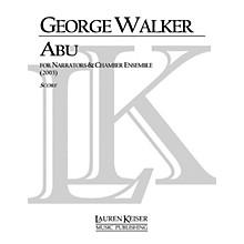 Lauren Keiser Music Publishing Abu LKM Music Series by George Walker