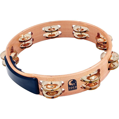 Toca Acacia Tambourine with Brass Jingles 10 in.