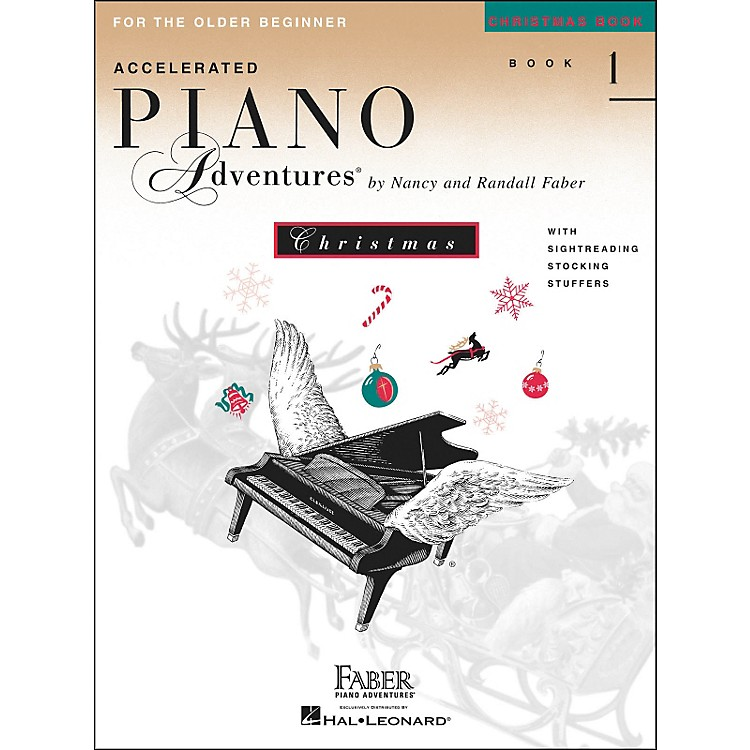 Faber Piano Adventures Accelerated Piano Adventures Christmas Book 1 for The older Beginner - Faber Piano