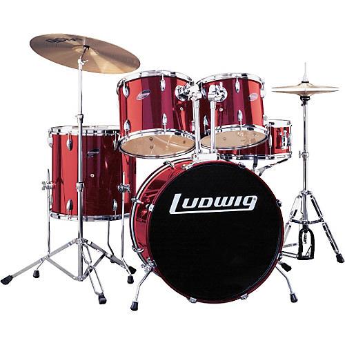 ludwig accent 5 piece combo drum set musician 39 s friend. Black Bedroom Furniture Sets. Home Design Ideas