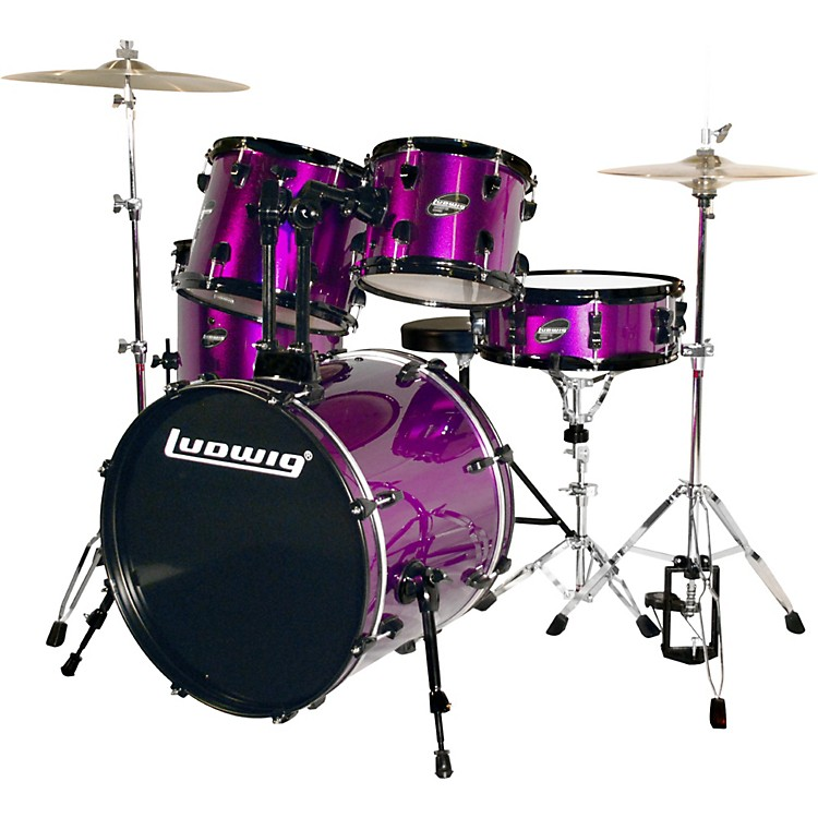 Ludwig Accent CS Combo Exclusive Drumset Purple