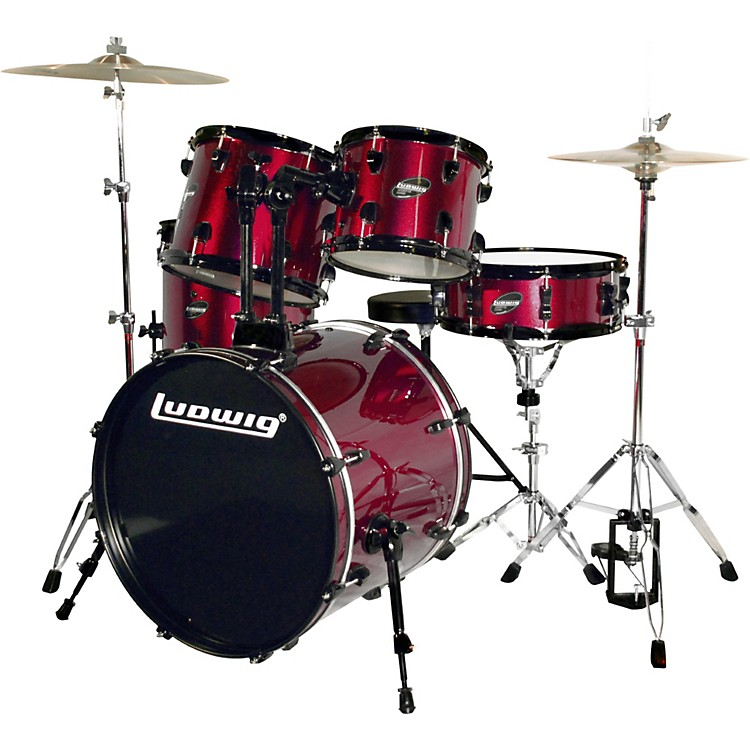 LudwigAccent CS Combo Exclusive DrumsetWine Red