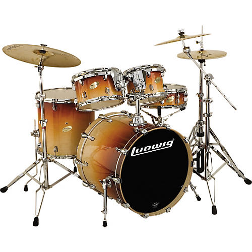Ludwig Accent CS Custom Elite Power 5-Piece Standard Gloss Drum Set-thumbnail