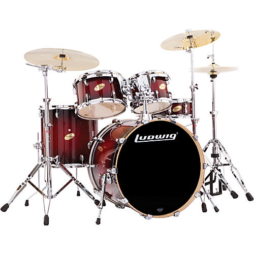 Ludwig Accent CS Custom Fusion Plus 5-Piece Satin Drum Set-thumbnail