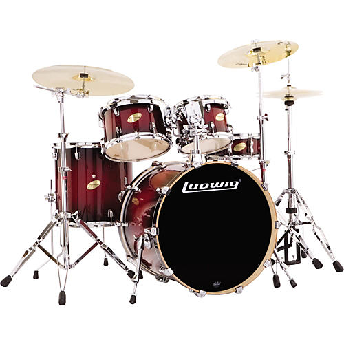 My new Ludwig Accent Custom Drum Set - YouTube