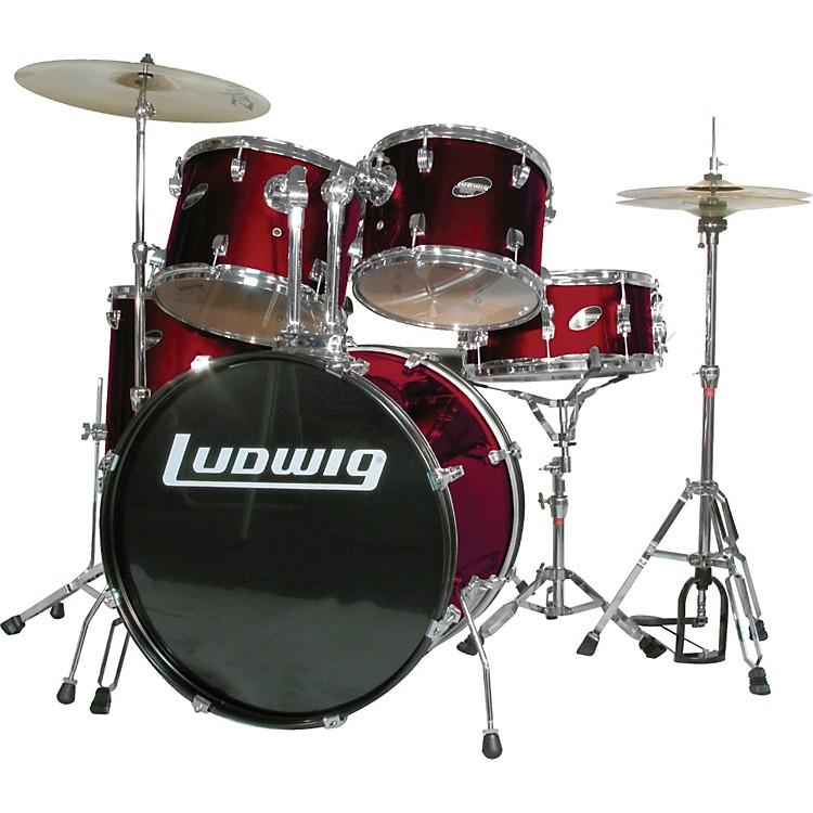 LudwigAccent Combo 5-piece Drum SetWine