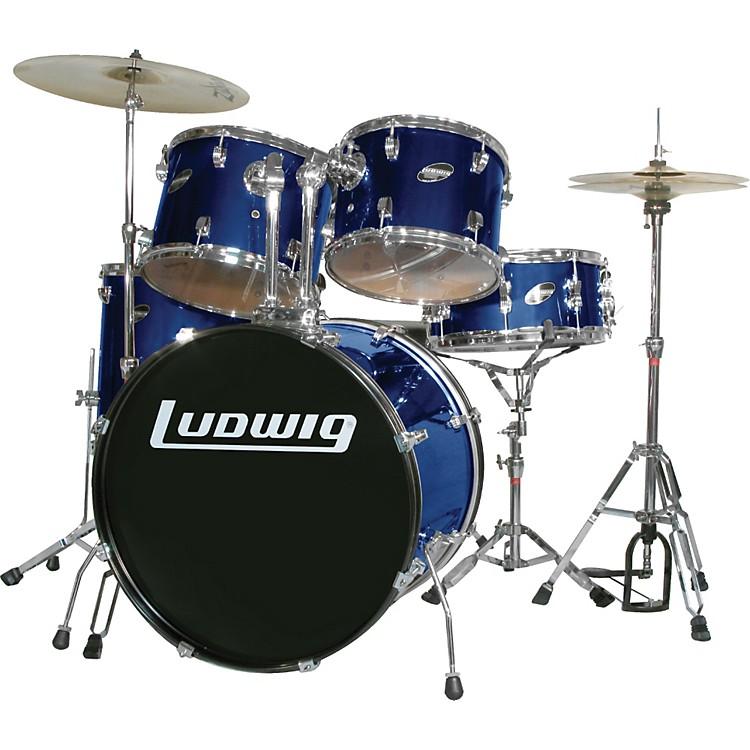 LudwigAccent Combo with Zildjian ZBT Cymbal SetBlue
