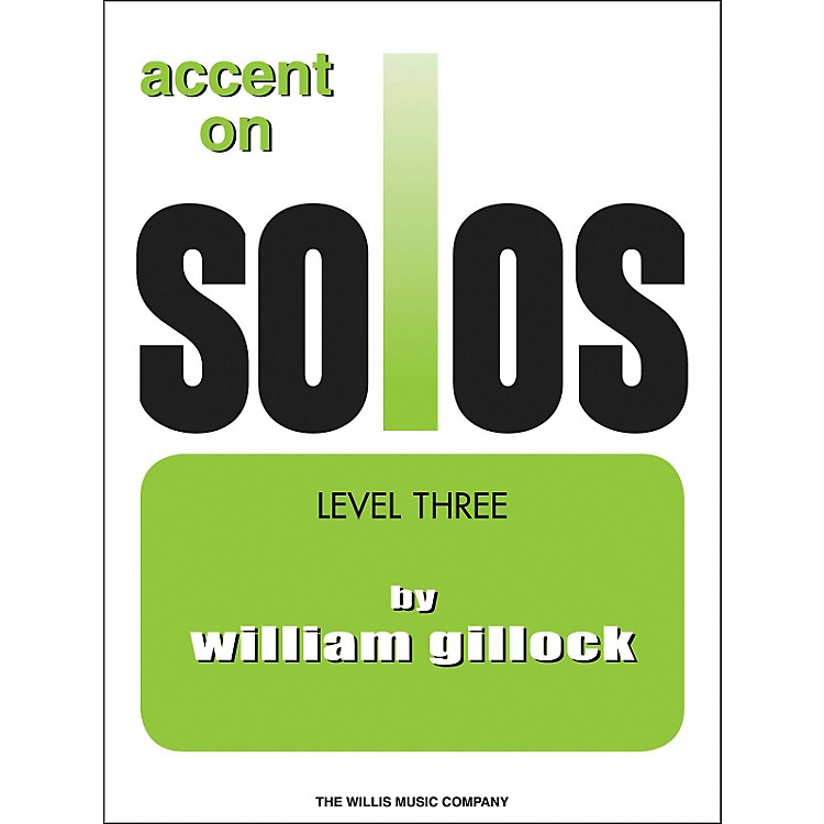 Willis Music Accent On Solos Level Three