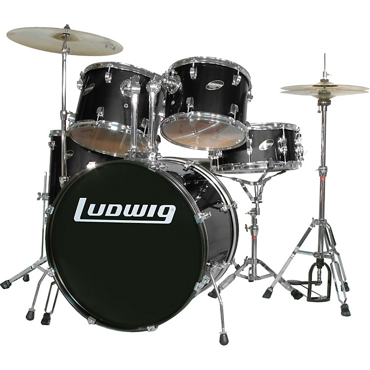 Ludwig Accent Series Complete Drumset Black