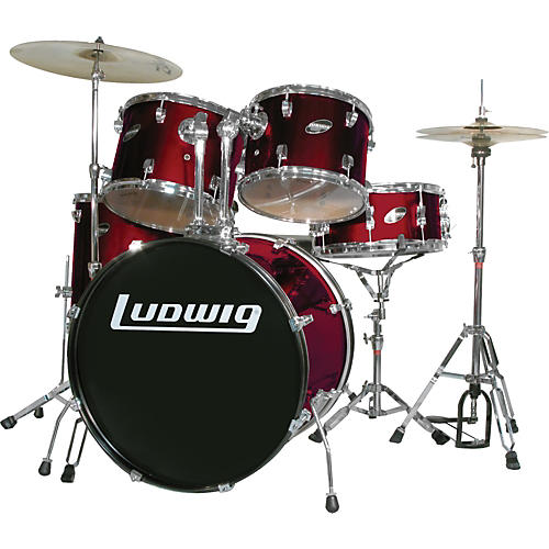 Ludwig Accent Series Complete Drumset Wine