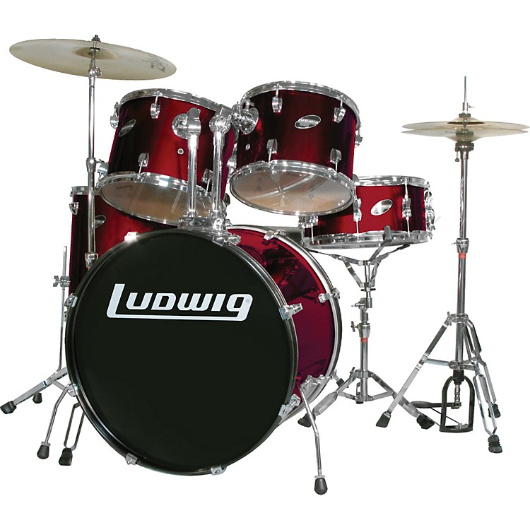 LudwigAccent Series Complete DrumsetBlack