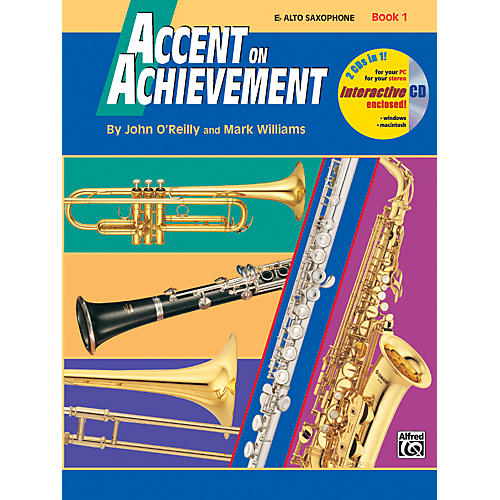 Alfred Accent on Achievement Book 1 Alto Sax Book & CD