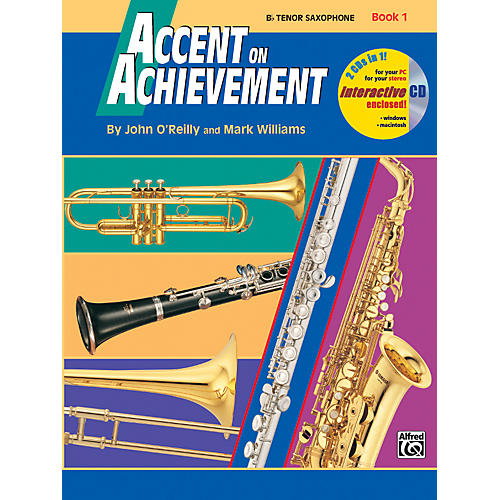 Alfred Accent on Achievement Book 1 Tenor Sax Book & CD