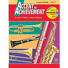 Alfred Accent on Achievement Book 2 B-Flat Tenor Saxophone Book & CD