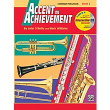 Alfred Accent on Achievement Book 2 Combined PercussionS.D. B.D. Access. Timp. & Mallet Percussion Book & CD