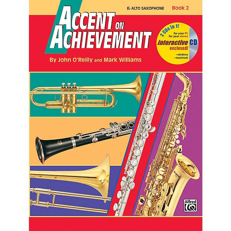 AlfredAccent on Achievement Book 2 E-Flat Alto Saxophone Book & CD