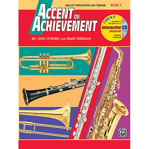Alfred Accent on Achievement Book 2 Mallet Percussion & Timpani Book & CD