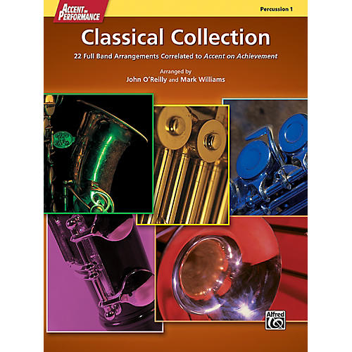 Alfred Accent on Performance Classical Collection Percussion 1 Book