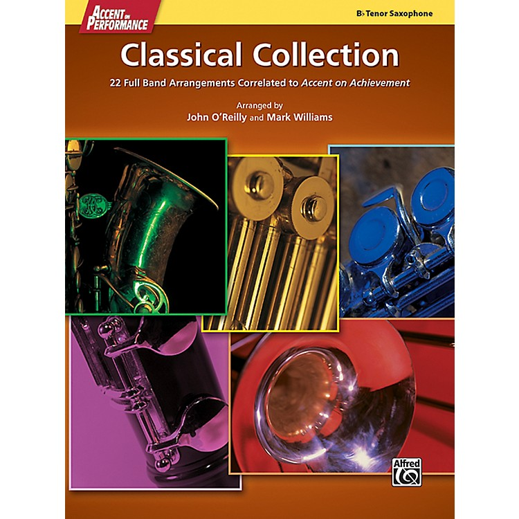 AlfredAccent on Performance Classical Collection Tenor Saxophone Book