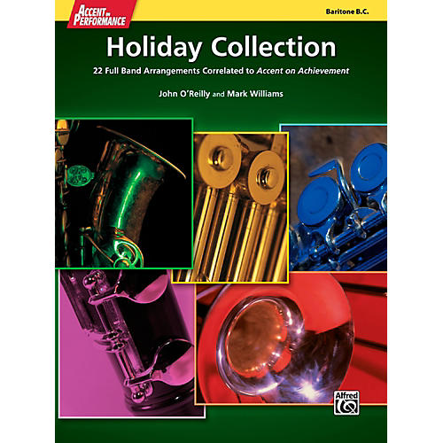 Alfred Accent on Performance Holiday Collection Baritone Bass Clef Book-thumbnail