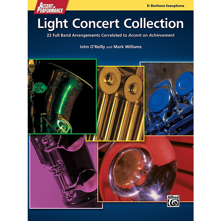 AlfredAccent on Performance Light Concert Collection Baritone Saxophone Book