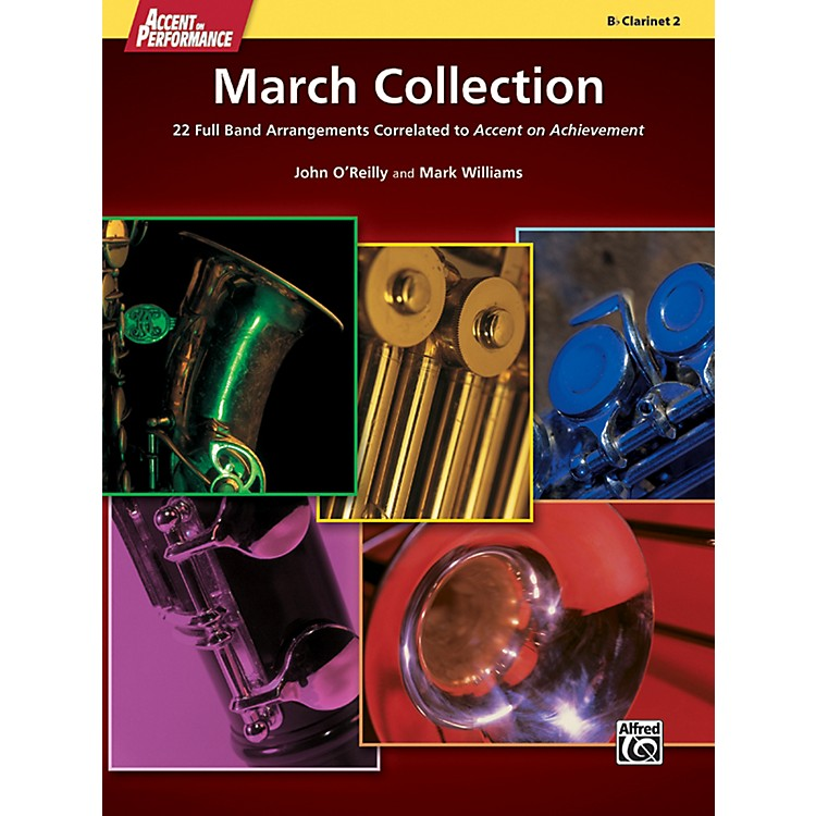 AlfredAccent on Performance March Collection Clarinet 2 Book