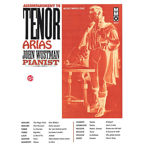 Music Minus One Accompaniment to Tenor Arias Music Minus One Series Softcover with CD  by Various-thumbnail