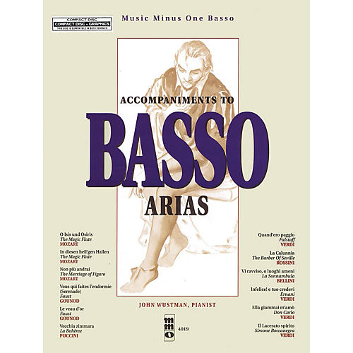 Music Minus One Accompaniments to Basso Arias Music Minus One Series Softcover with CD  by Various-thumbnail