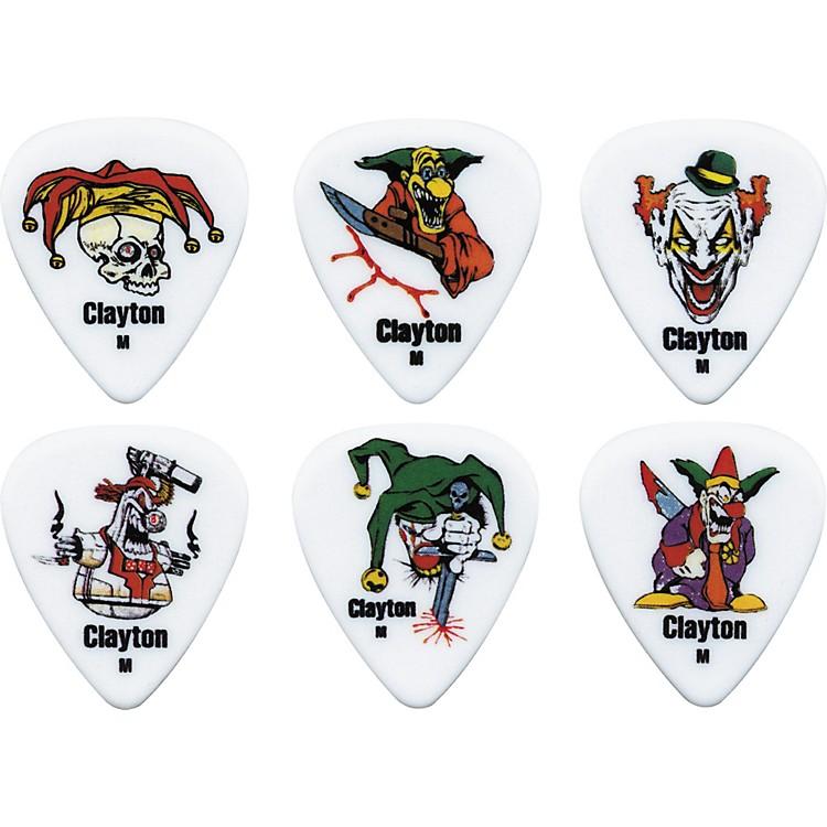 ClaytonAcetal Crazed Clown Guitar Picks1 DozenMedium