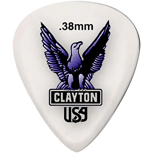 Clayton Acetal Standard Guitar Picks .38 mm 1 Dozen