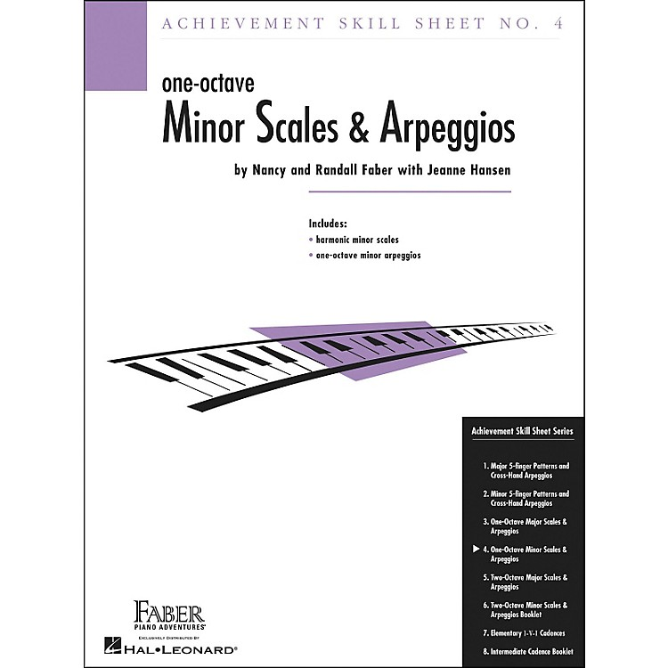 Faber Music Achievement Skill Sheet No. 4: One Octave Minor Scales And Arpeggios - Faber Piano